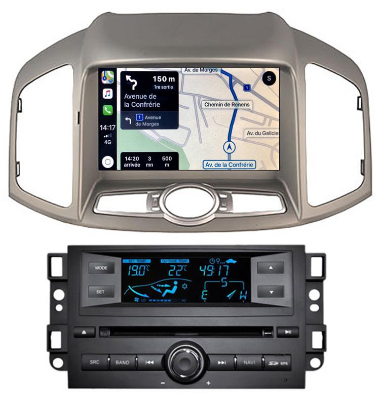 Autoradio tactile GPS Android 10.0 et Apple Carplay Chevrolet Captiva de 2011 à 2018