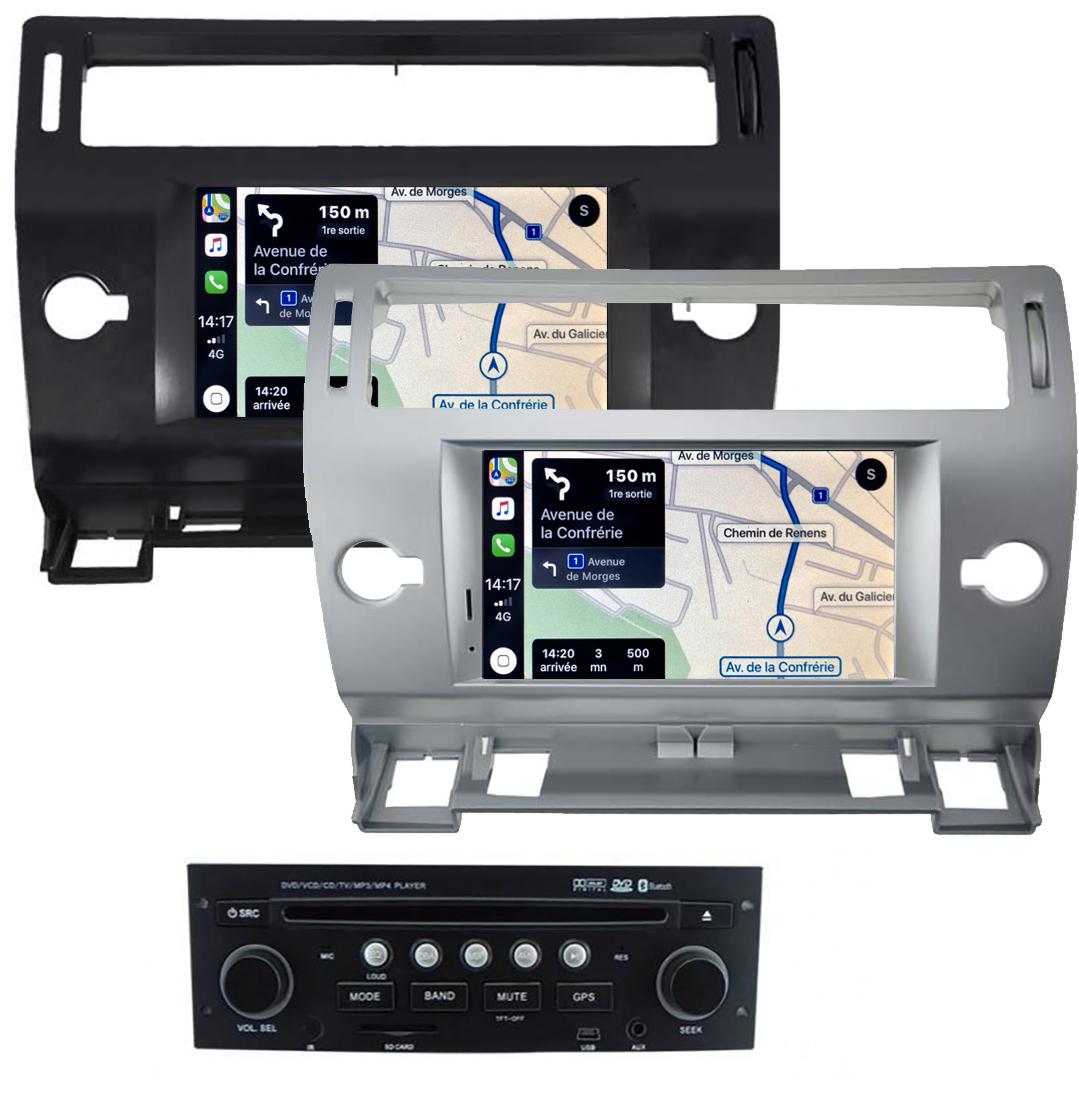 Autoradio tactile GPS Android 10.0 et Apple Carplay Citroën C4 de 2004 à 2011