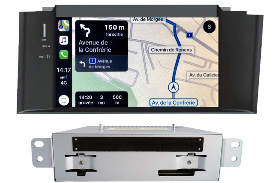 Autoradio tactile GPS Android 10.0 et Apple Carplay Citroën C4 et Citroën DS4 de 2011 à 2018