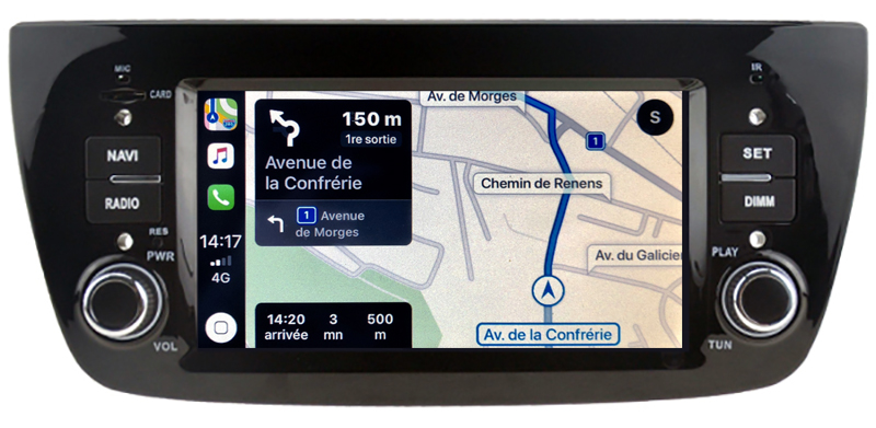 Autoradio tactile GPS Android 10.0 et Apple Carplay Opel Combo de 2012 à 2015