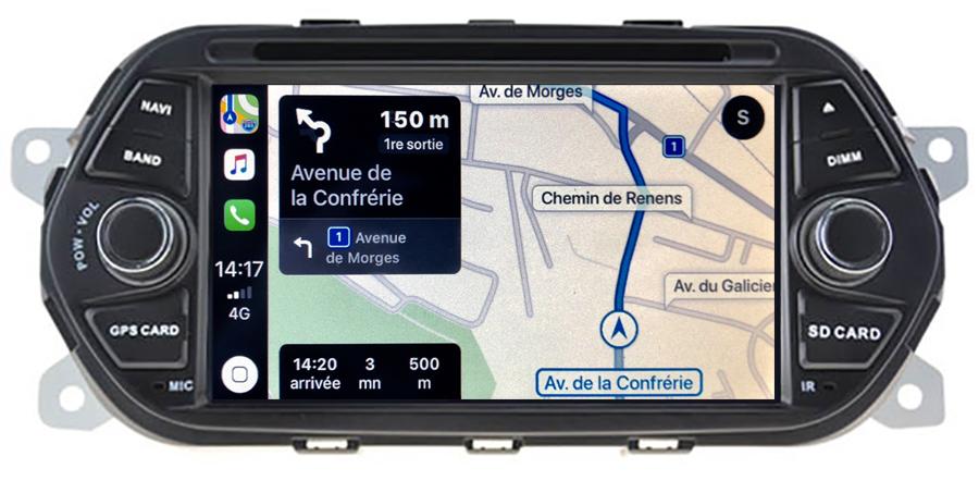 Autoradio tactile GPS Android 10.0 et Apple Carplay Fiat Tipo de 2015 à 2019
