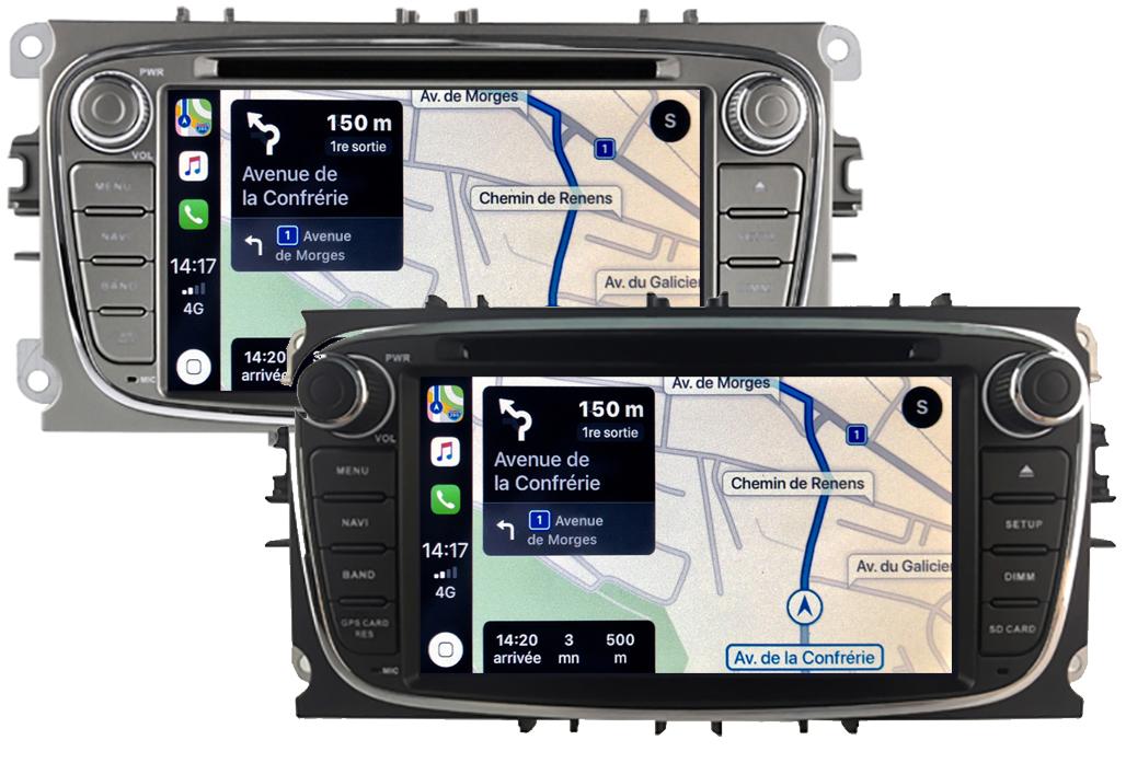 Autoradio tactile GPS Android 10.0 et Apple Carplay Ford Focus, C-Max, S-Max Galaxy et Mondeo