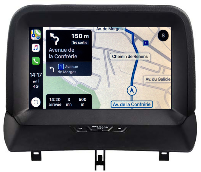 Autoradio tactile GPS Android 10.0 et Apple Carplay Ford Tourneo Custom et Transit Custom de 2012 à 2017