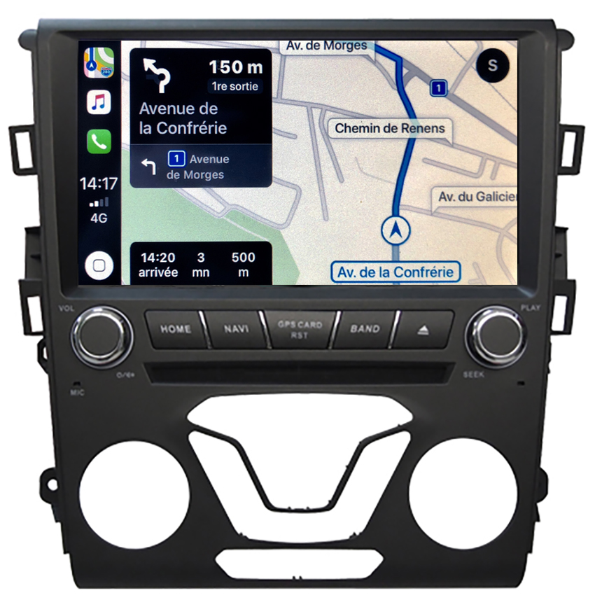 Autoradio tactile GPS Android 10.0 et Bluetooth Ford Mondeo de 2014 à 2019