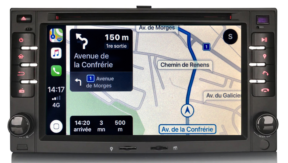 Autoradio tactile GPS Android 9.0 et Bluetooth Kia Cee\'d Carens Sorento Sportage Magentis et Picanto