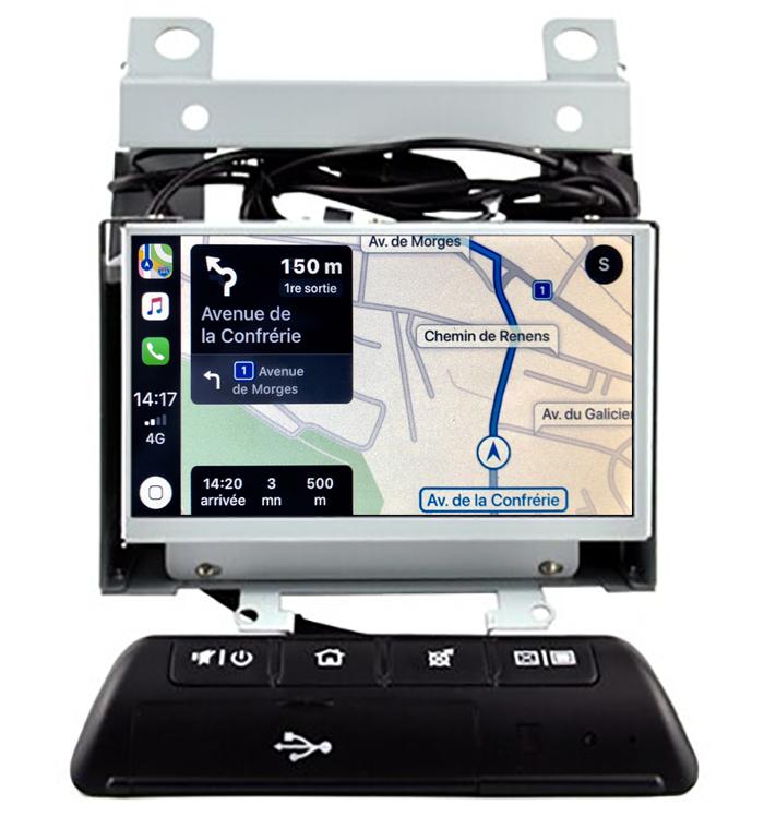 Autoradio tactile GPS Android 10.0 et Apple Carplay Land Rover Freelander de 2007 à 2014