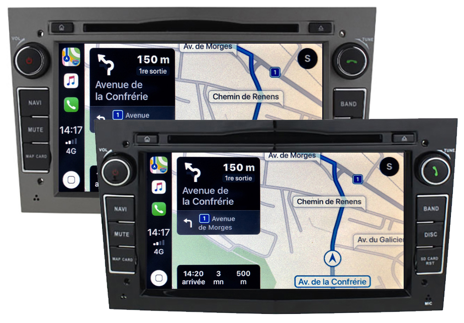 Autoradio tactile GPS Android 10.0 et Apple Carplay Opel Astra Corsa Zafira et Antara