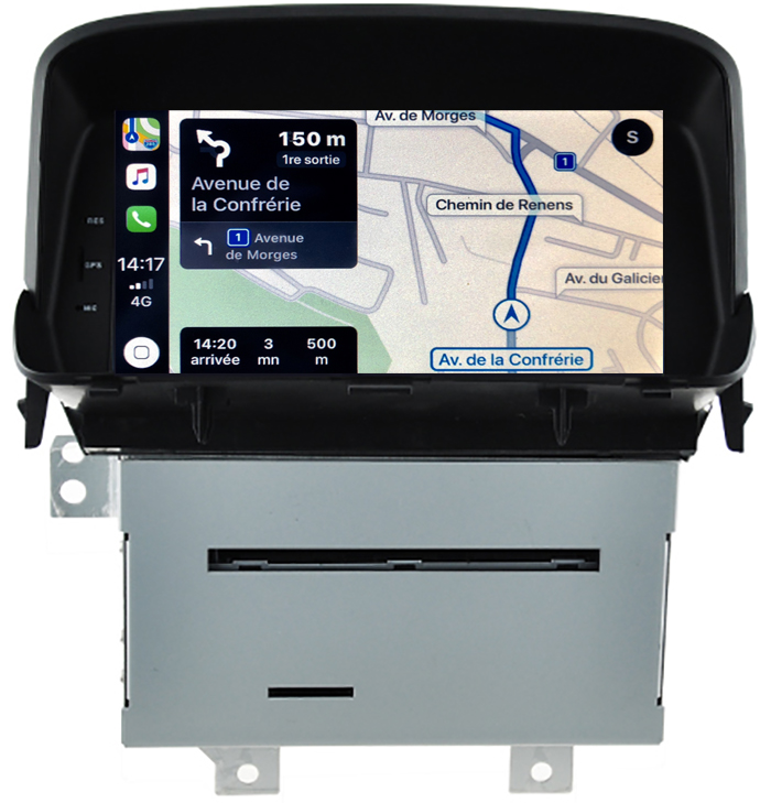 Autoradio tactile GPS Android 10.0 et Apple Carplay Opel Mokka de 10/2012 à 06/2016