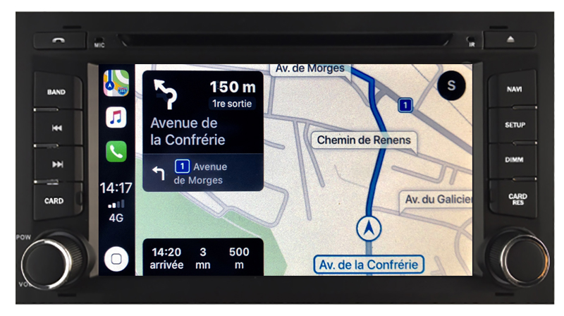 Autoradio tactile GPS Android 10.0 et Apple Carplay Seat Leon de 2013 à 2018 et Seat Ateca depuis 2016