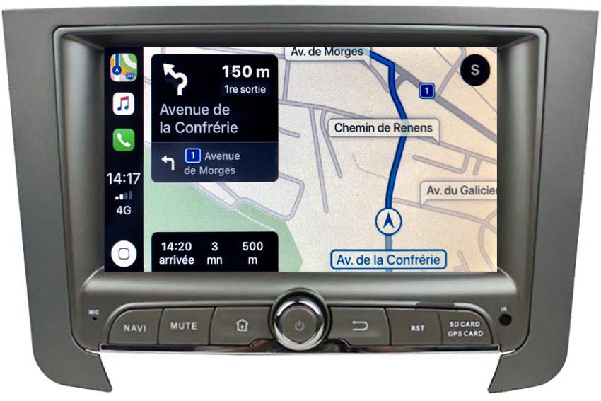 Autoradio tactile GPS Android 10.0 et Apple Carplay Ssangyong Rexton de 2013 à 2017