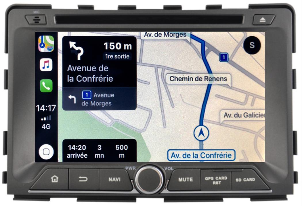 Autoradio tactile GPS Android 10.0 et Apple Carplay Ssangyong Rodius depuis 2013