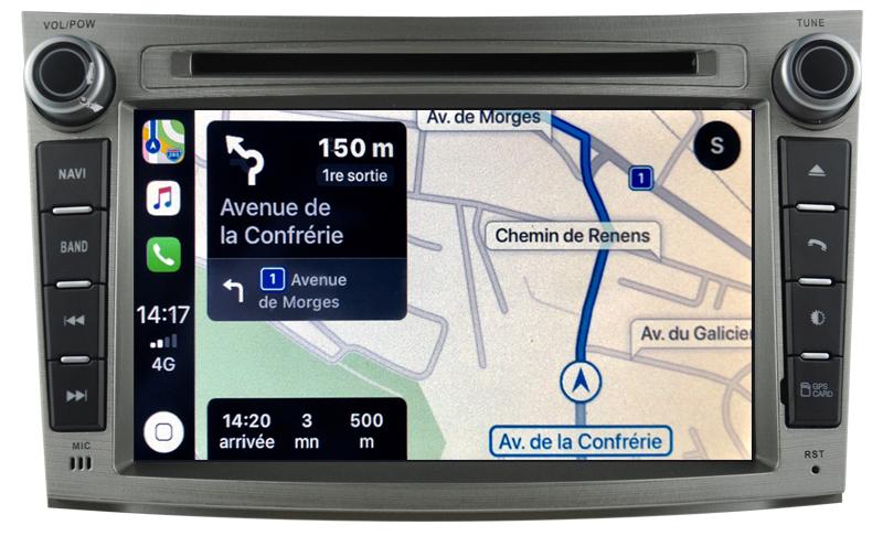 Autoradio tactile GPS Android 10.0 et Apple Carplay Subaru Legacy et Outback de 2009 à 2014