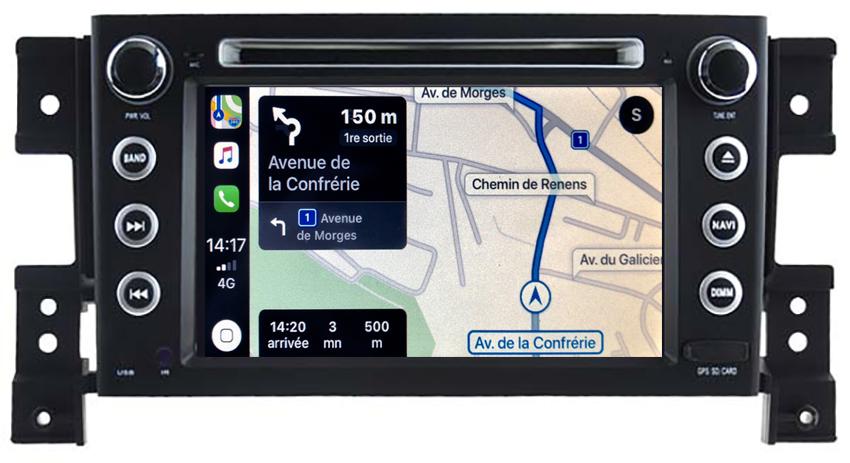 Autoradio tactile GPS Android 10.0 et Apple Carplay Suzuki Grand Vitara de 09/2005 à 2011