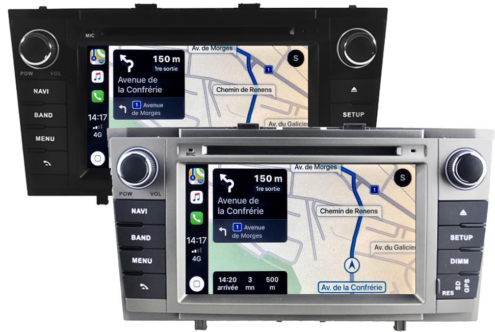 Autoradio tactile GPS Android 10.0 et Apple Carplay Toyota Avensis de 2009 à 2013
