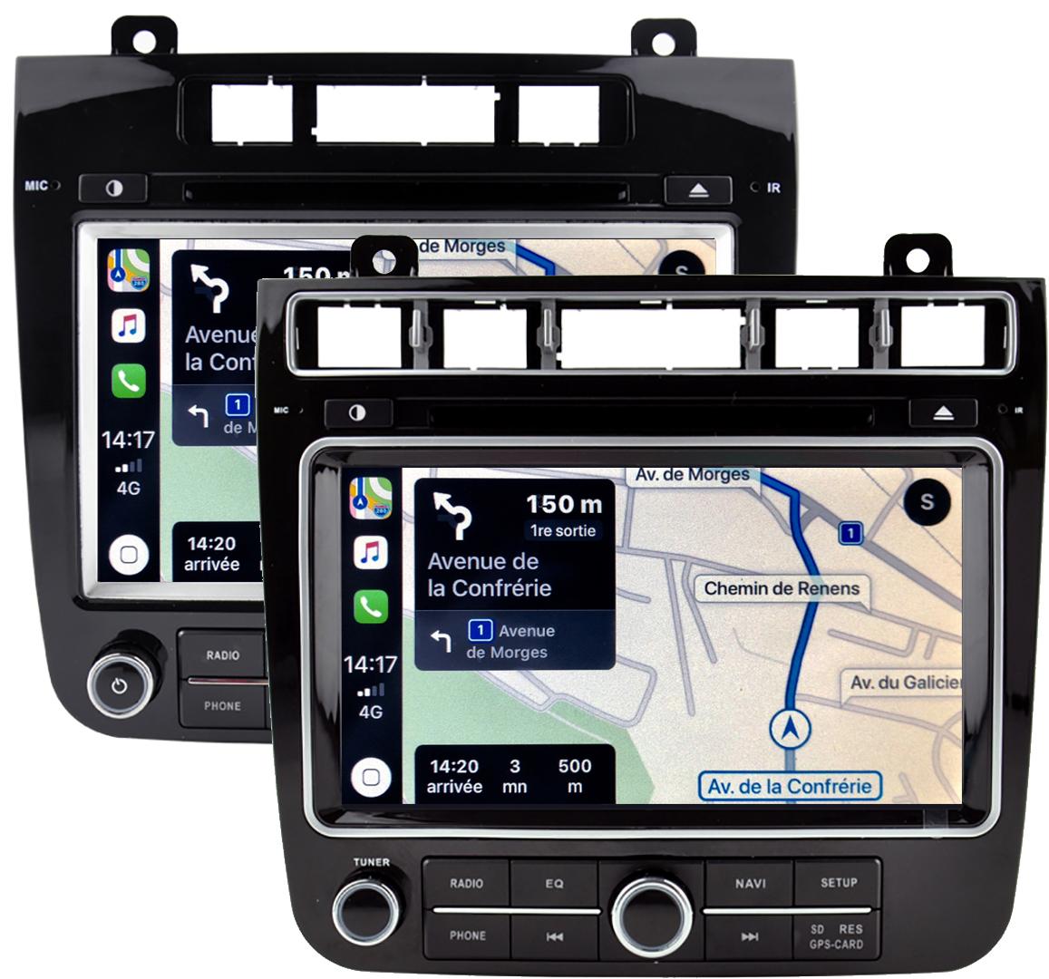 Autoradio tactile GPS Android 10.0 et Apple Carplay Volkswagen Touareg de 04/2010 à 2017