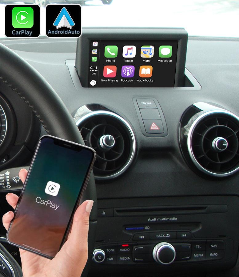 Système Apple Carplay sans fil et Android Auto pour Audi A1 de 2010 à 2018