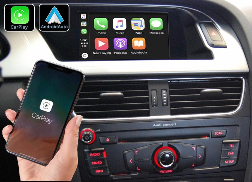 Système Apple Carplay sans fil et Android Auto pour Audi A4 et Audi A5 de 2008 à 2016