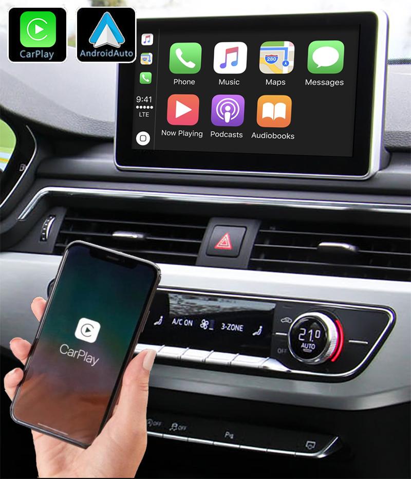Système Apple Carplay sans fil et Android Auto pour Audi A4 et Audi A5 depuis 2016