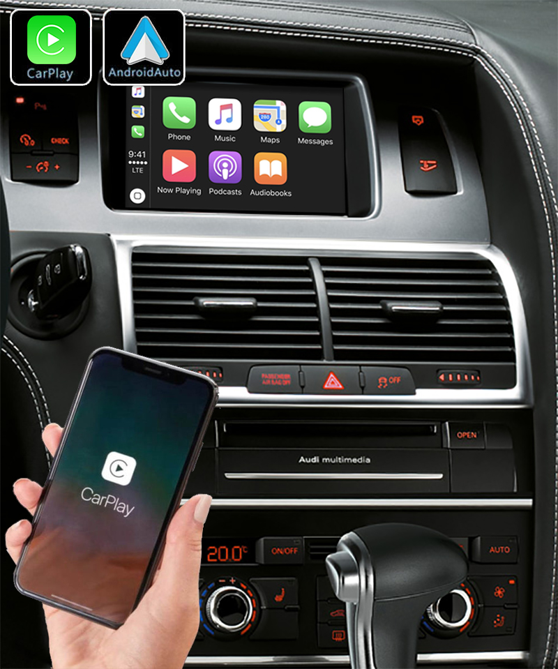 Apple Carplay sans fil et Android Auto pour Audi Q7 de 2005 à 2015