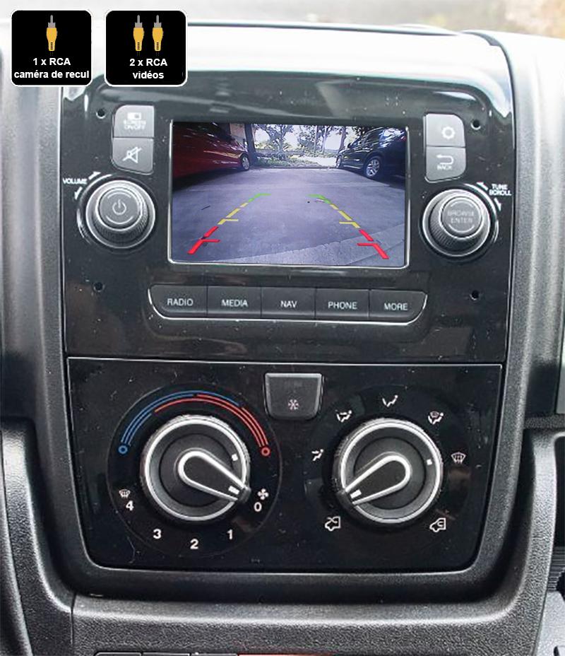 Interface Multimédia vidéo pour caméra compatible Fiat Ducato à partir de 2014