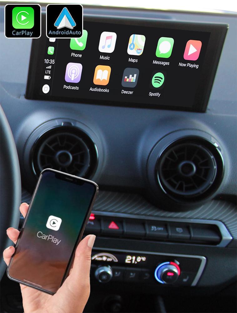 Système Apple Carplay sans fil et Android Auto pour Audi Q2 depuis 09/2016