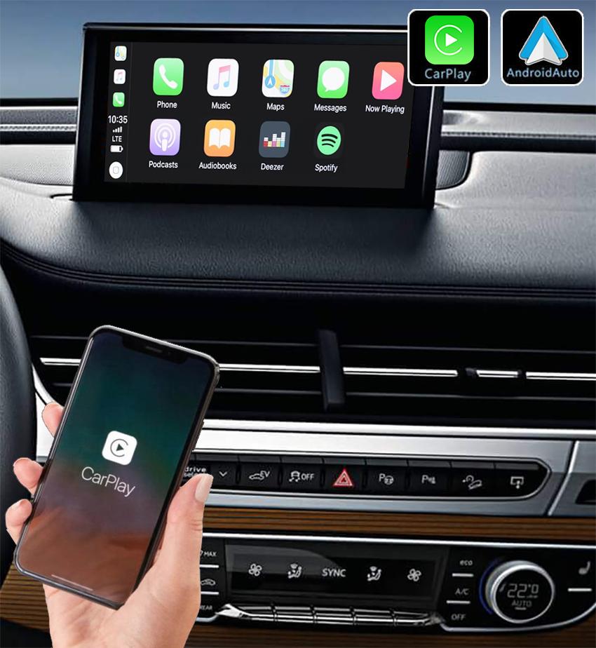 Système Apple Carplay sans fil et Android Auto pour Audi Q7 depuis 2015