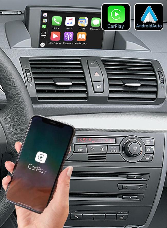 Système Apple Carplay sans fil et Android Auto pour BMW Série 1 de 2006 à 2012