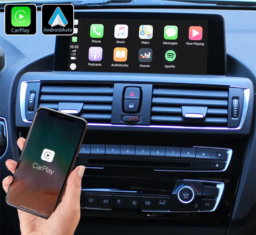 Système Apple Carplay sans fil et Android Auto pour BMW Série 1 F20 de 2012 à 2020