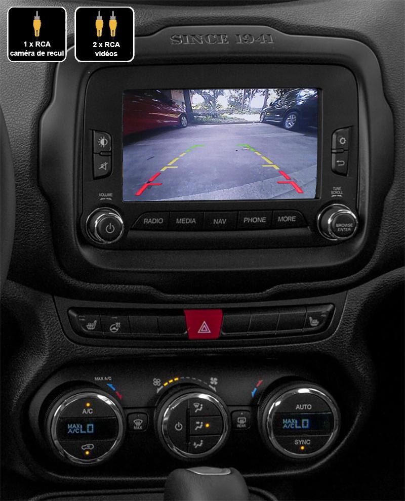 Interface Multimédia vidéo pour caméra Jeep Renegade de 2015 à 2019