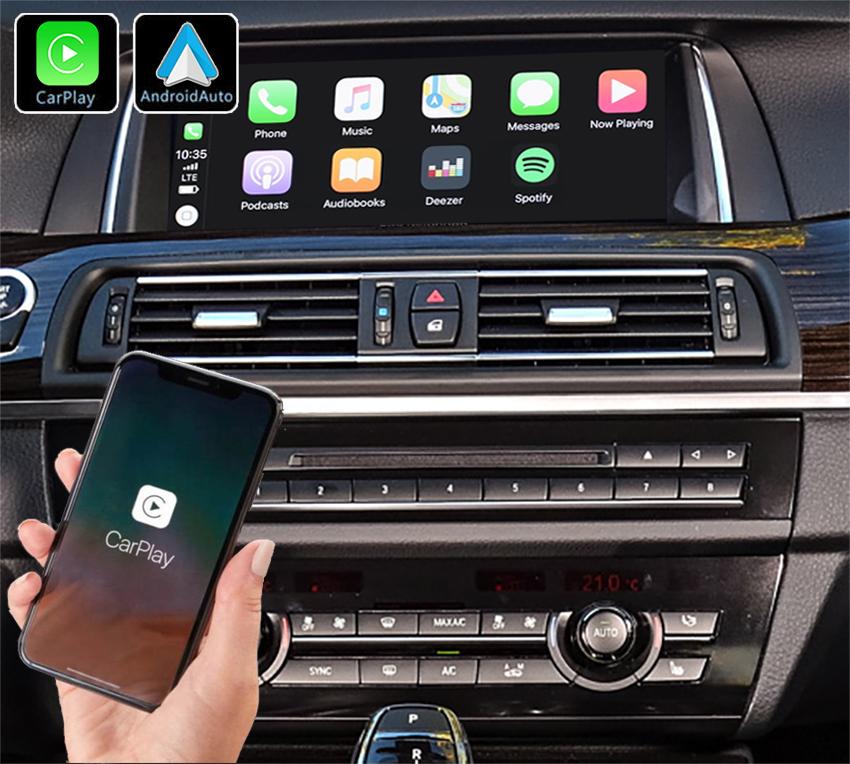 Système Apple Carplay sans fil et Android Auto pour BMW série 5 F10 de 2011 à 2017