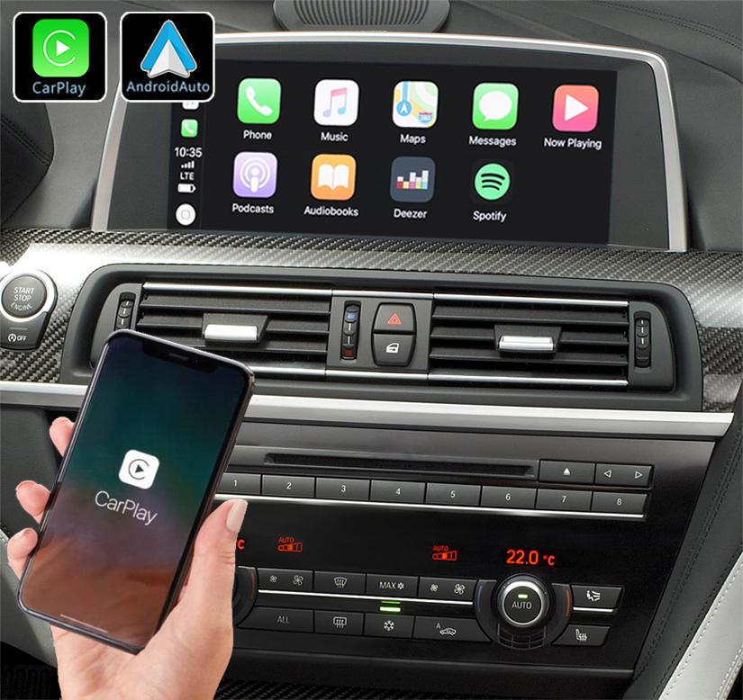 Système Apple Carplay sans fil et Android Auto pour BMW Série 6 F06/F12 de 2011 à 2017