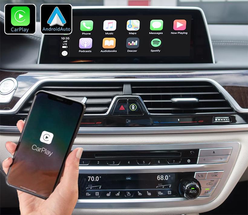 Système Apple Carplay sans fil et Android Auto pour BMW série 7 G11 depuis 2015