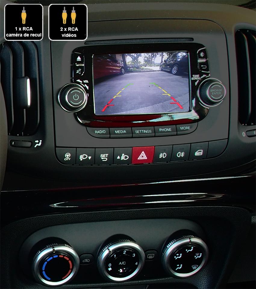Interface Multimédia vidéo pour caméra compatible Fiat 500L de 2012 à 2017