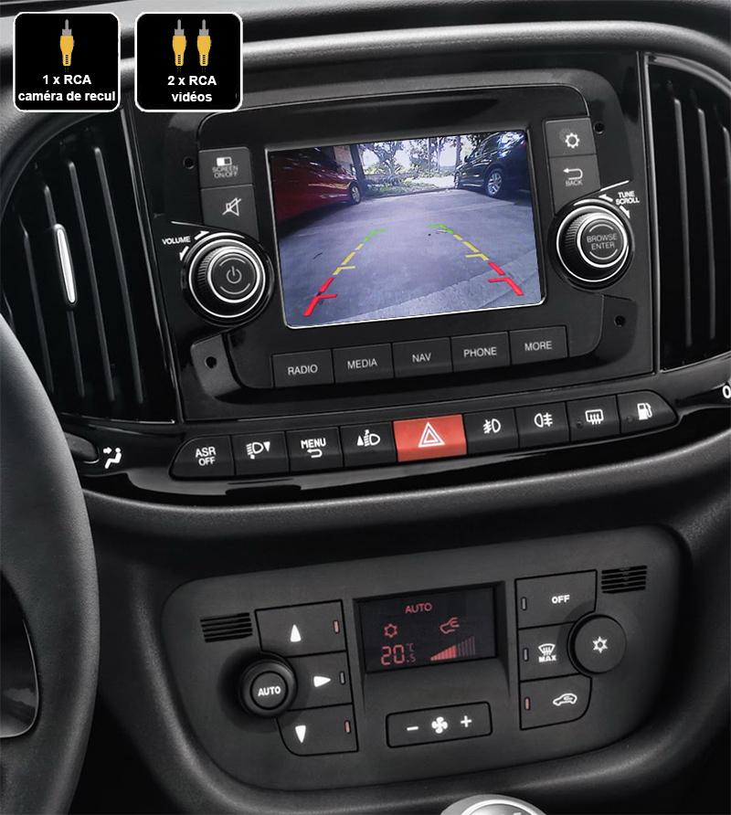 Interface Multimédia vidéo pour caméra compatible Fiat Doblo