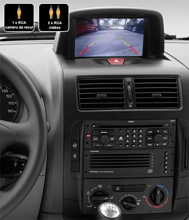 Interface Multimédia vidéo pour caméra compatible Fiat Scudo de 2007 à 2016