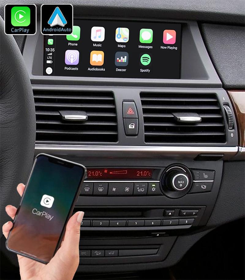 Système Apple Carplay sans fil et Android Auto pour BMW X5 E70 et BMW X6 E71 de 2007 à 2013