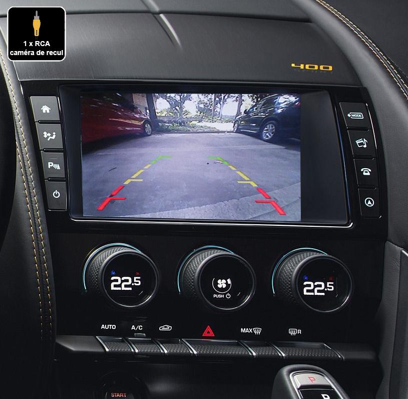 Interface Multimédia vidéo pour caméra compatible Jaguar F-Type depuis 2016
