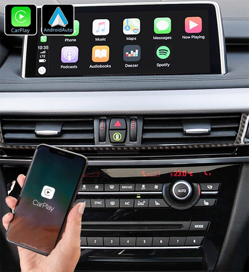 Système Apple Carplay sans fil et Android Auto pour BMW X5 et BMW X6 de 2014 à 2020