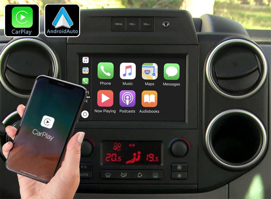 Système Apple Carplay sans fil et Android Auto pour Citroën Berlingo de 2015 à 2018