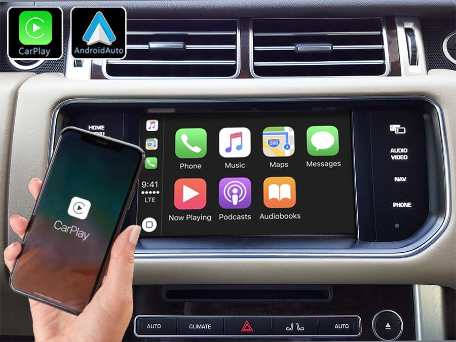 Système Apple Carplay sans fil et Android Auto pour Range Rover Sport de 2013 à 2017