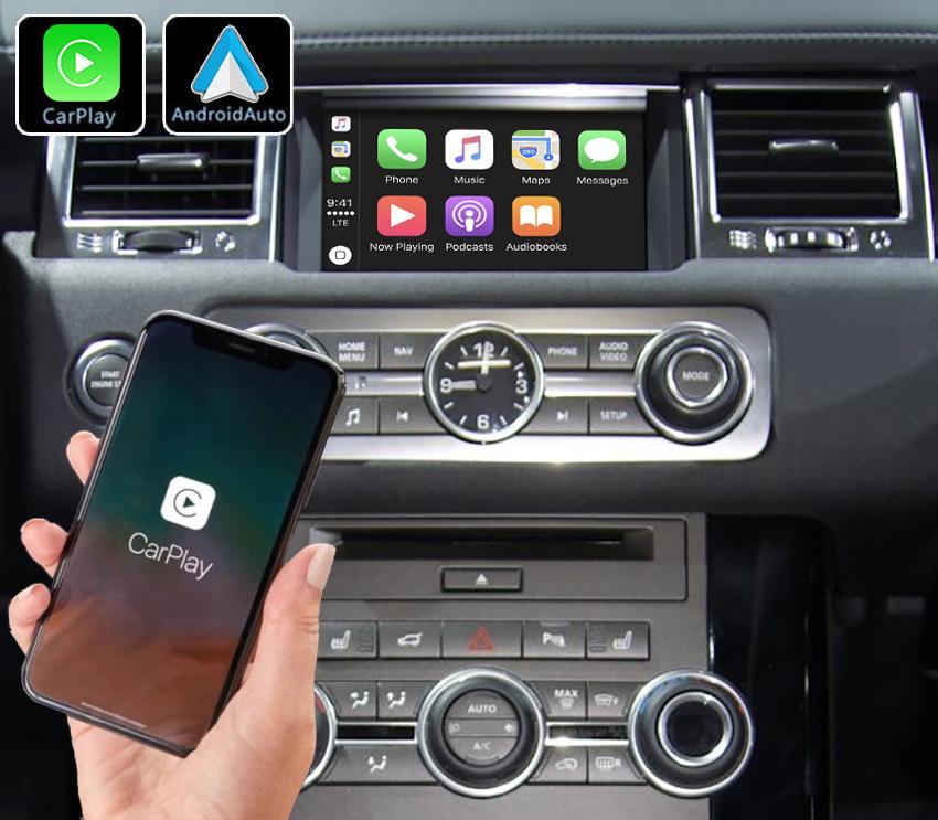 Système Apple Carplay sans fil et Android Auto pour Land Rover Discovery IV de 2013 à 2017