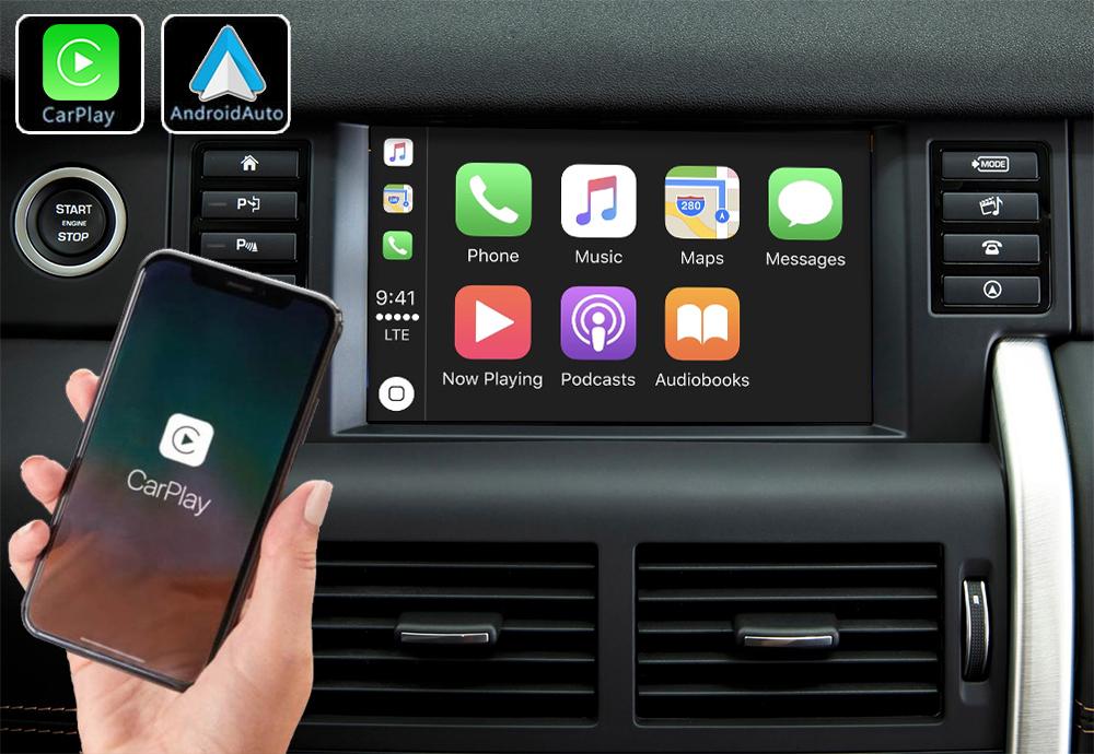 Système Apple Carplay sans fil et Android Auto pour Land Rover Discovery Sport de 2015 à 2019