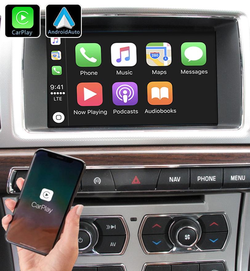 Système Apple Carplay sans fil et Android Auto pour Jaguar XF de 2012 à 2015