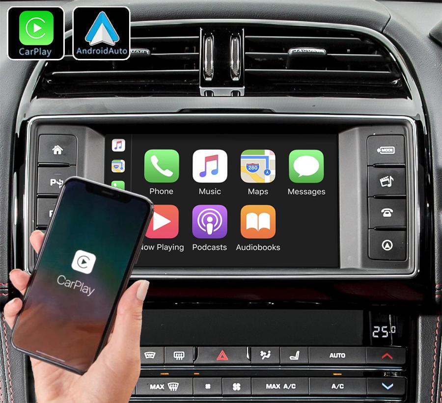 Système Apple Carplay sans fil et Android Auto pour Jaguar XE et F-Pace de 2015 à 2020