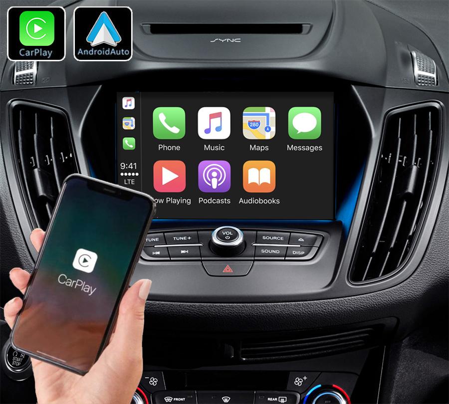 Système Apple Carplay sans fil et Android Auto pour Ford Kuga et C-Max de 2013 à 2020