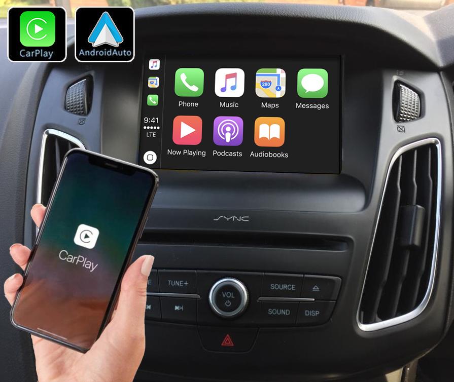 Système Apple Carplay sans fil et Android Auto pour Ford Focus de 2011 à 2018