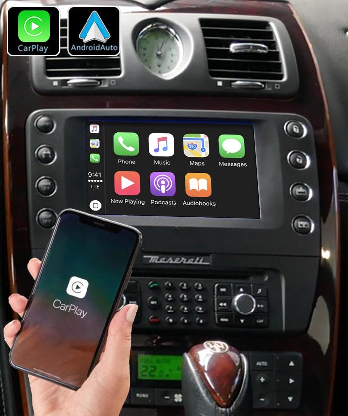 Système Apple Carplay sans fil et Android Auto pour Maserati Quattroporte de 2009 à 2012
