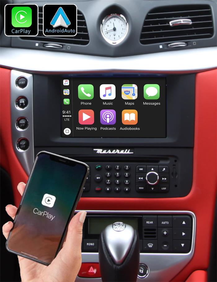 Système Apple Carplay sans fil et Android Auto pour Maserati GranTurismo de 2007 à 2012