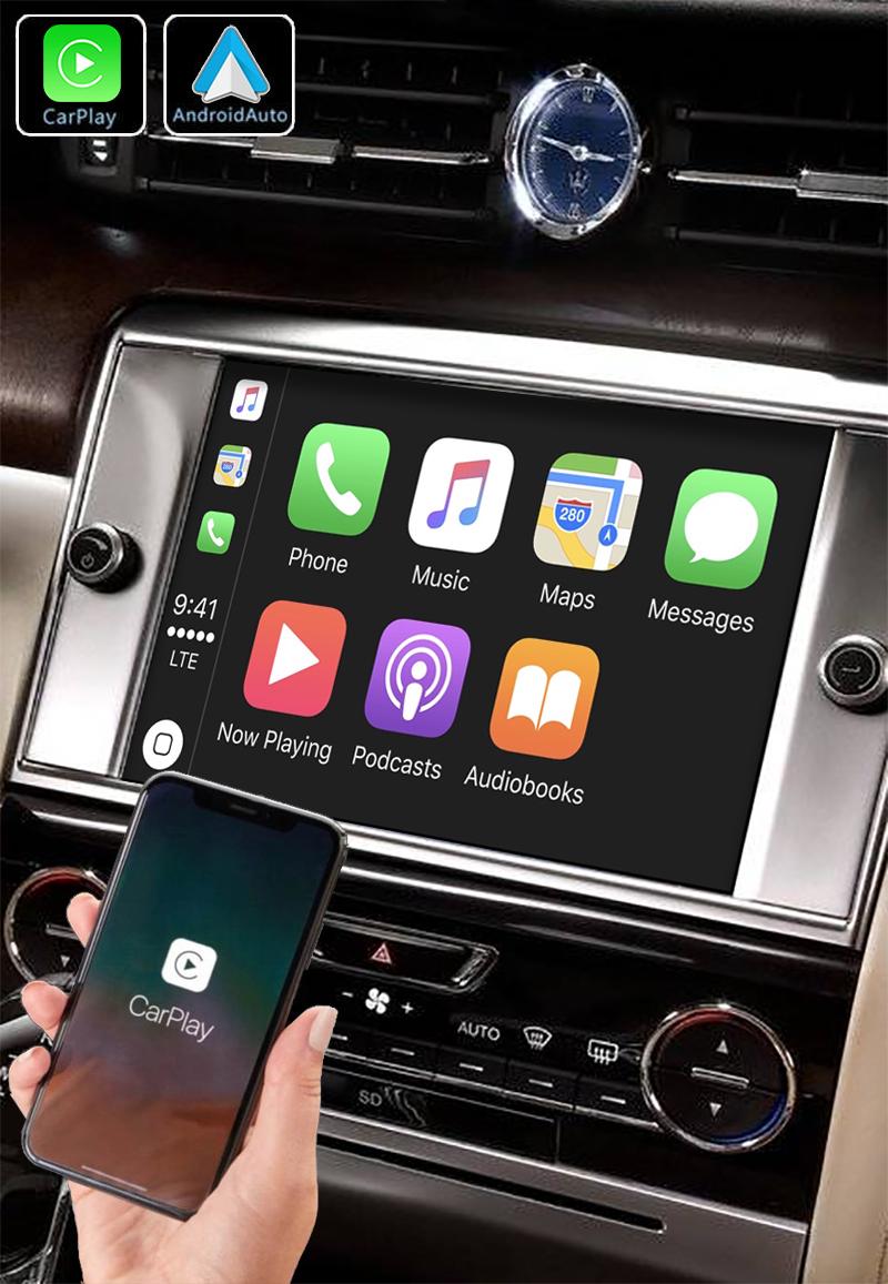 Système Apple Carplay sans fil et Android Auto pour Maserati Quattroporte de 2013 à 2016