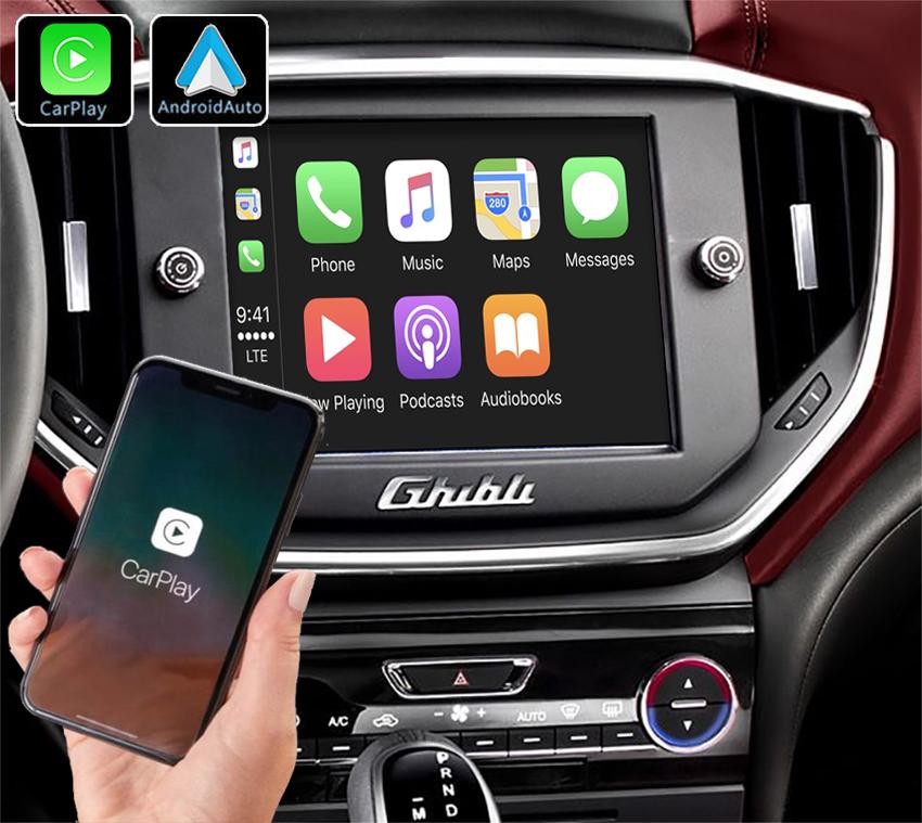 Système Apple Carplay sans fil et Android Auto pour Maserati Ghibli de 2013 à 2016